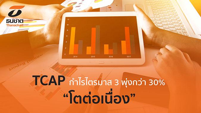 """TCAP กำไรไตรมาส 3 พุ่งกว่า 30% """"โตต่อเนื่อง"""""""
